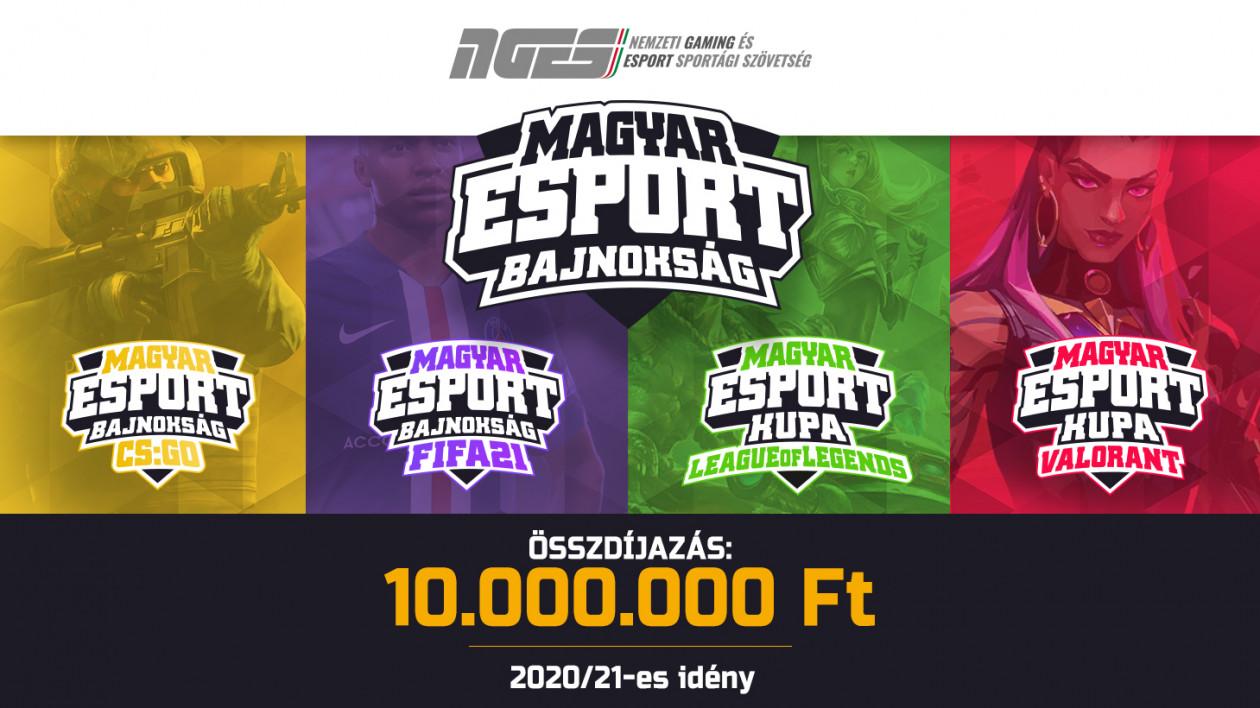 Itt vannak a Magyar Esport Bajnokság Valorant, LoL és CS:GO továbbjutói
