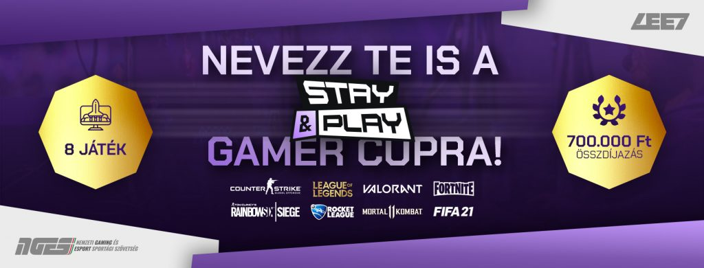 700 ezer forintos összdíjazással indul a harmadik Stay & Play Gamer Cup! 1