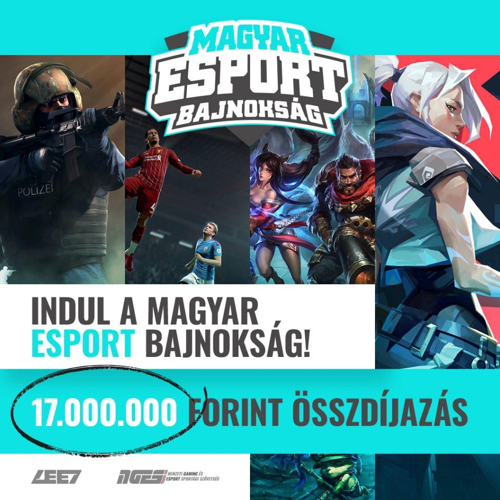 Jön a 17 milliós Magyar Esport Bajnokság! 2
