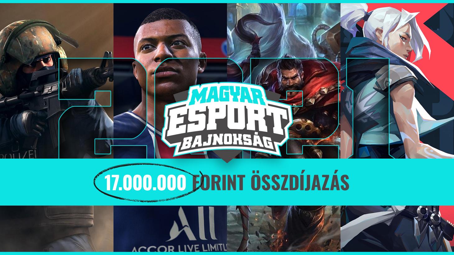 Jön a 17 milliós Magyar Esport Bajnokság!